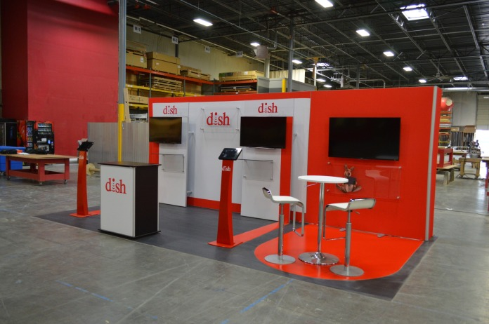 Counters and Video Mount Accessories Complete this ISOframe Fabric Exhibit