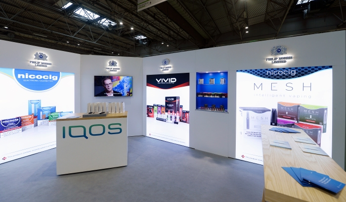 CUSTOM_ISOFRAME_DM_UK- 6.5m x 6.5m open two sides - Quantum Marketing (Nicocigs) - Pharmacy Show 5